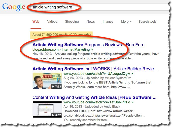 article writing software review